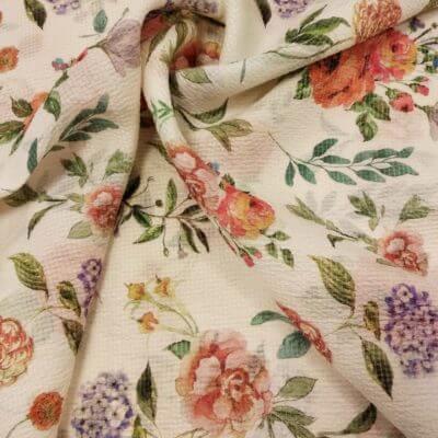 Плательно-блузочный шелк с принтом УК 68