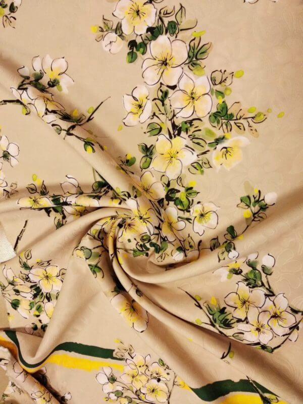 Жаккард с цветочным принтом УК 142